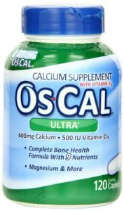 Os-cal Ultra 600 Plus Calcium Supplement Tablets With 9 Essential Vitamins And Minerals, 120-count Bottles (pack Of 2)