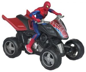 Spider Man Zoom N Go Pull Back Vehicles - Spider Quad