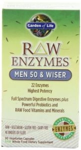Garden Of Life Raw Enzymes(tm) Men 50 & Wiser, 90 Capsules