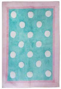 My Baby Sam Pixie Baby Rug, Aqua And Pink