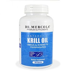 Dr. Mercola Krill Oil 1000mg - Antarctic Krill Oil - An Improved Alternative To Fish Oil - Omega-3s Bonded To Phospholipids - 60 Capsules