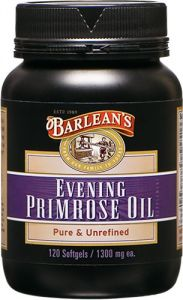 "Barlean""s Organic Oils Organic Evening Primrose Oil, 120 Softgels/1300 Mg Ea. Bottle"