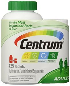 Centrum Multivitamin For Adults (425 Total Tablets Including A Bonus Travel Size Bottle)