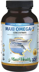 Maxi-omega-3 Concentrate Certified Kosher Fish Oil, 180-capsules