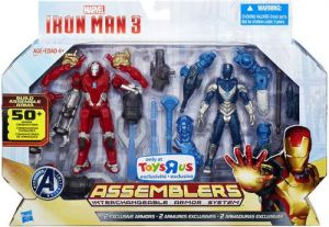 Action Figures - Iron Man 3 Assemblers Exclusive Action Figure 2-Pack Red Snapper Iron Man & G...