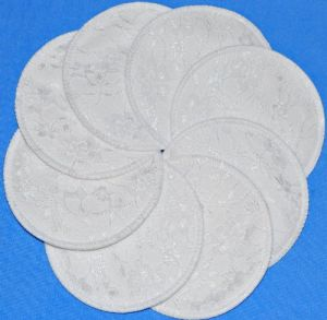 Nuangel White Lace Washable Nursing Pads - 8 Pads - Made In U.s.a.
