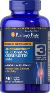 "Puritan""s Pride Double Strength Glucosamine, Chondroitin & Msm Joint Soother-240 Caplets"