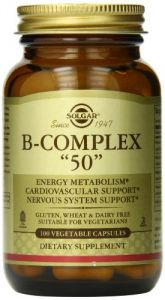 Solgar B-complex Vegetable Capsules, 50 Mg, 100 Count