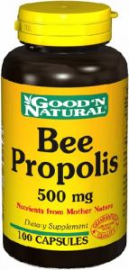 "Bee Propolis 500mg - 100 Caps,(good""n Natural)"