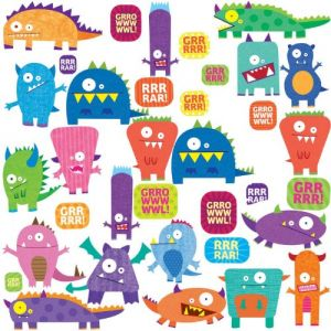 Roommates Rmk1472scs Monsters Peel & Stick Wall Decals