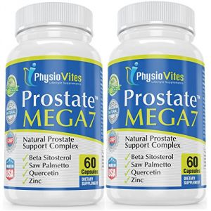 Prostate Mega7 #1 Top Rated Best Prostate Supplement For Men With Beta Sitosterol, Saw Palmetto, Quercetin Prostate Mega7 Prostate Health