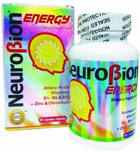 60 Caps Neurobion Energy - Amino Acids Vitamin B1 B2 B6 B12
