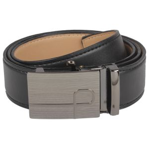Exotique Men's Formal Belt (Black) (BM0001_Black)