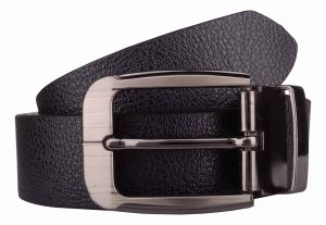 Belts (Men's) - Exotique Men's Black Formal Leather Belt (Code-bm0025BK)