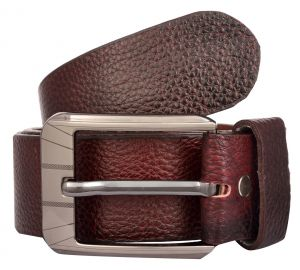 Belts (Men's) - Exotique Men's Red Casual Leather Belt (Code-bm0025RD)