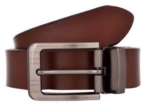 Exotique Men's Brown Formal Leather Belt (Code-bm0028BR)