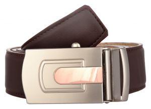 Exotique Men's Brown Formal Faux Leather Belt (Code - BM0037BR)
