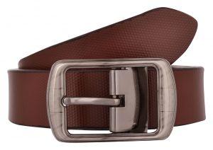 Exotique Men's Brown Formal Leather Belt (Code-bm0042BR)