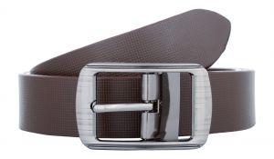 Exotique Men's Brown Formal Leather Belt (Code-bm0044BR)