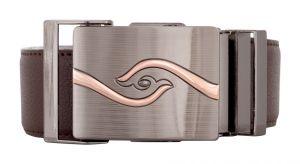 Exotique Men's Brown Formal Faux Leather Belt (Code-BM0045BR)
