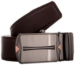 Exotique Men's Brown Formal Faux Leather Belt (Code - BM0046BR)