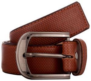 Exotique Men's Tan Formal Faux Leather Belt (Code - BM0049TN)
