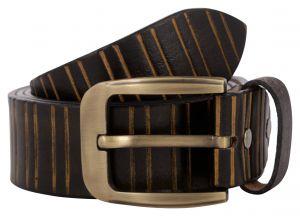 Exotique Men's Black Casual Leather Belt (Code - BM0051BK)