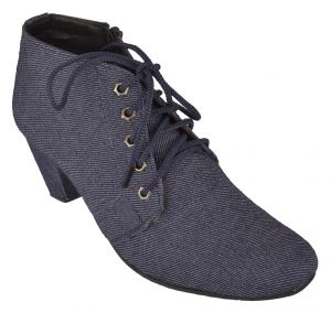 Women's Footwear - Exotique Women's Blue Casual Boot (EL0054BL)