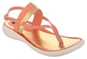 Flat Slipons, Sandals - Exotique Women's Pink/Gold Fashion Sandal(EL0057PK)
