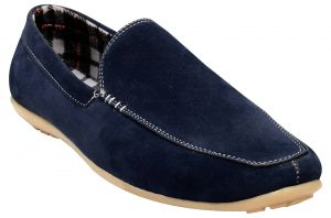 Sneakers for men - Exotique Men's Blue Loafer Shoes (EX0041BL)