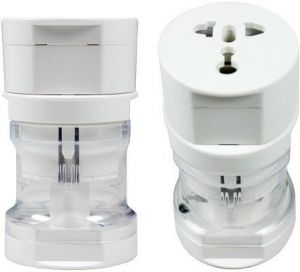 Adapters - Casotec 269078 Universal Worldwide Adaptor (White)