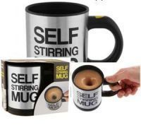 2 PCs Self Stirring Mug With Lid For Coffee Tea Juices