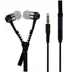Spider Designs Sd-55 Zip Bass Bomb Earphone With Mic (black)