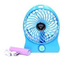 Mini Portable Usb/li-ion Battery Rechargeable Palm Leaf Fan 4 Gear