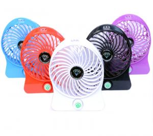Ksj Powered Mini Portable Usb/li-ion Battery Rechargeable Palm Leaf Fan 4 Gear (manufacturer Warranty)