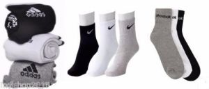 Combo Of Reebok Adidas Nike Set Of 9 Pairs Ankle Length Cotton Socks