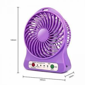 Portable Rechargeable USB Ventilator Desk Mini Fan Handheld Travel Blower