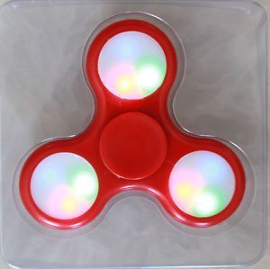 LED Light Red Fidget Hand Spinner Stress Finger Game Desk Kids Toy
