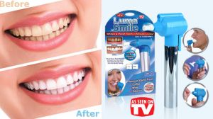 Luma Tooth Polisher Whitener Stain Remover With LED Light Removes Stains With Rubber Cups