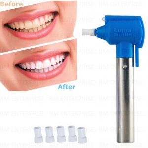 Personal Care & Beauty - Luma Tooth Polisher Whitener Stain Remover With LED Light Removes Stains With Rubber Cups