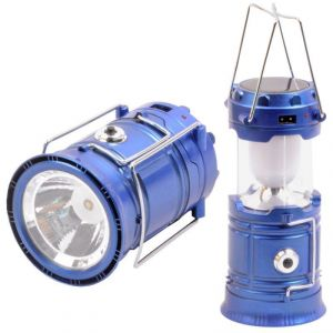 Lighting - 220v Rechargeable Solar 6-led Camping Lantern Light With Power Bank Tent Lamp-70
