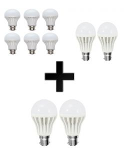 Vizio Combo Of 3 W LED Bulbs(set Of 6), 7 W LED Bulbs(set Of 2) With 5 W LED Bulbs(set Of 2)