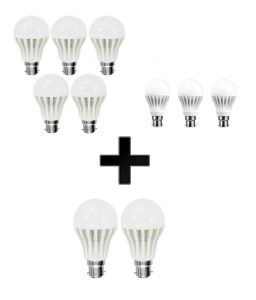 Vizio Combo Of 3w LED Bulbs(set Of 2) , 7w LED Bulbs(set Of 3) With 12 W LED Bulbs(set Of 5)