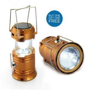 Solar lights - Vizio Solar Lantern with Torch buy 1 Get 1 Free (Multicolor)