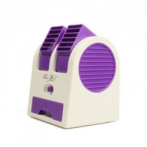 Home appliances - Mini Fragrance Air Conditioner Cooling Fan Purple