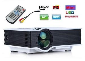 Electronic Accessories - VIZIO UC46 Mini Portable HD LED Home Theater Cinema Projector with 1200 Lumens