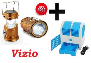 Vizio Emergency Solar Lantern With Mini Air Cooler Free