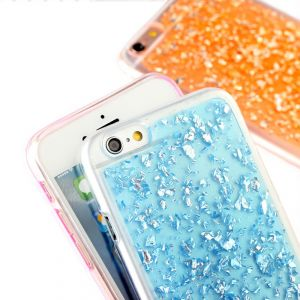 Aeoss Ultra Thin Gold Foil Bling Glitter Soft Silicone Tpu Back Cover Case For iPhone 6plus
