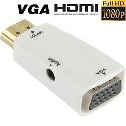 Storage Drives (Misc) - Aeoss HDMI to VGA Converter With 3.5MM Audio for HDTV / Monitor / Projector