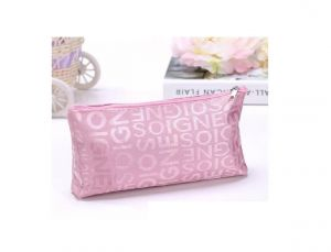 Aeoss Portable Cute Multifunction Zipper Travel Cosmetic Pencil Pouch Storage Bag Letter Makeup Case